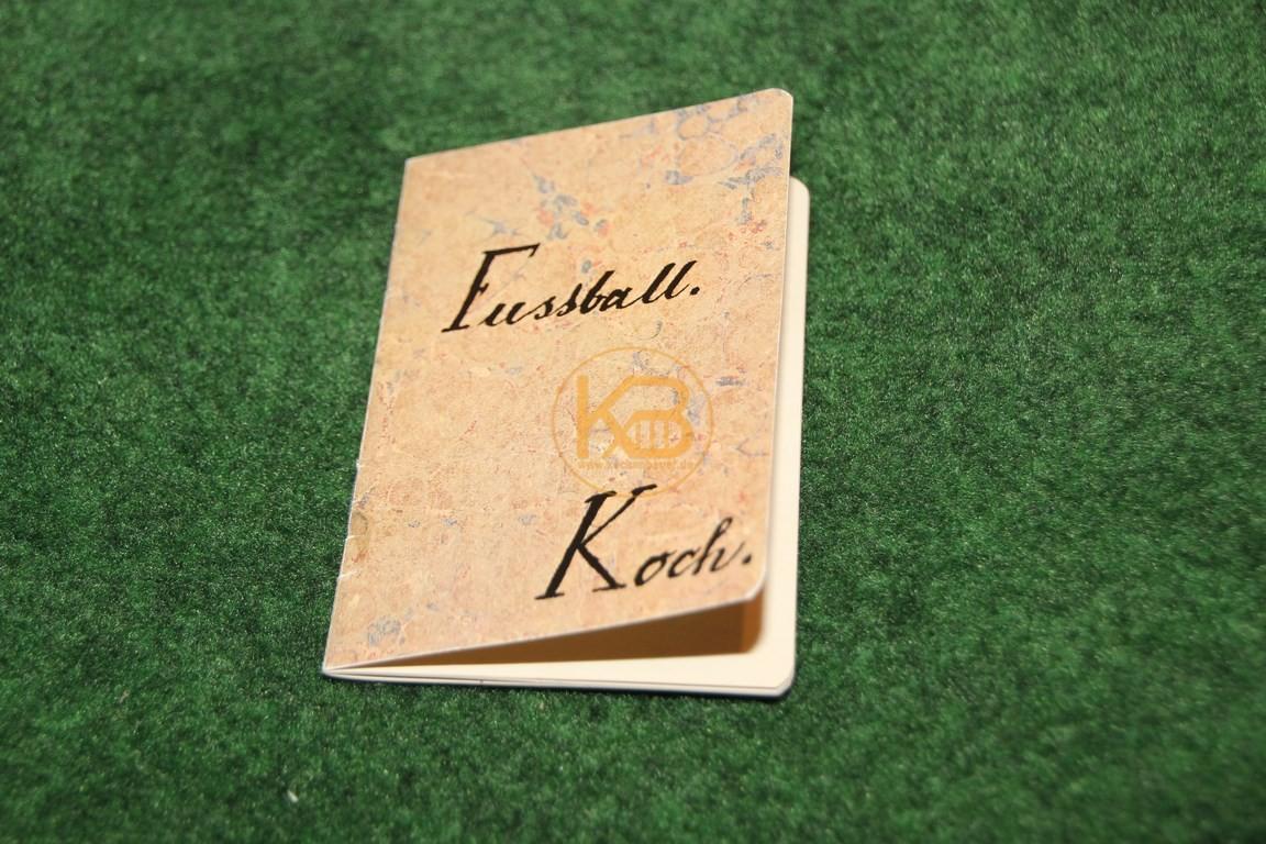 Reprint der ersten Fußballregeln in Deutschland nach Koch