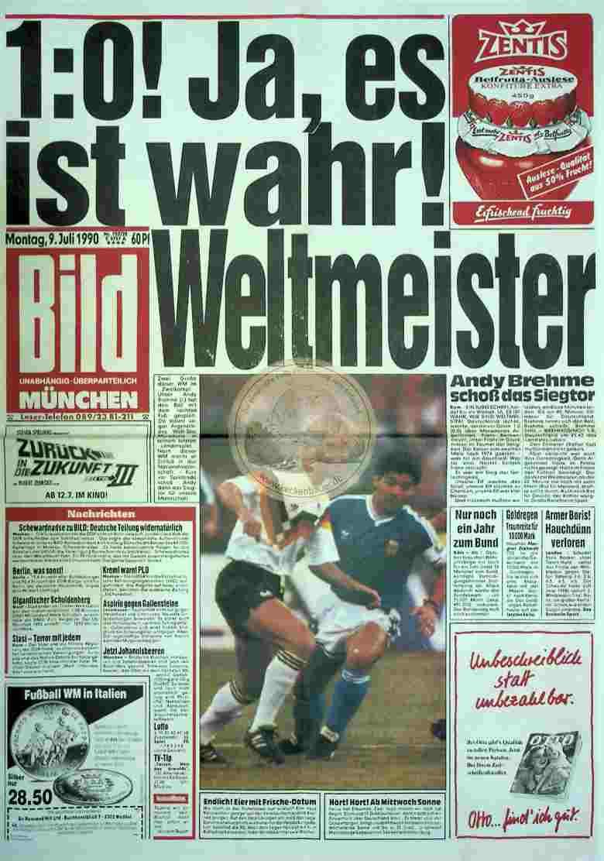 1990 Juli 9. Bildzeitung München