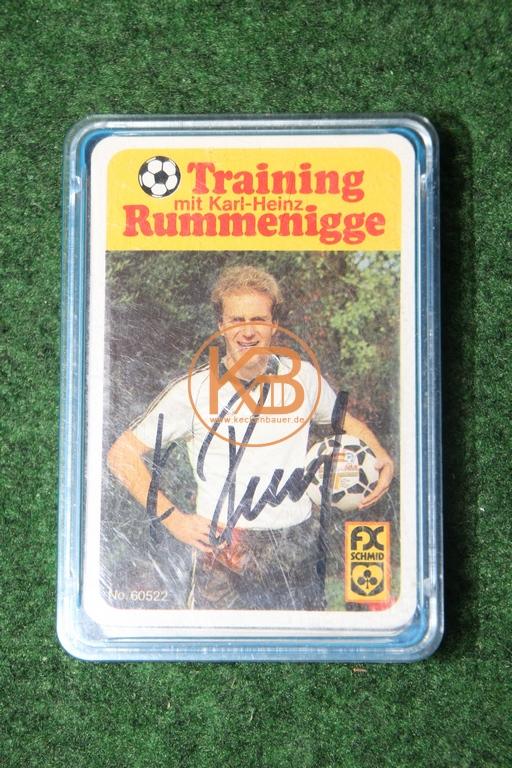 FX Schmid No 60522 Training mit Karl-Heinz Rummenigge mit original Autogramm.