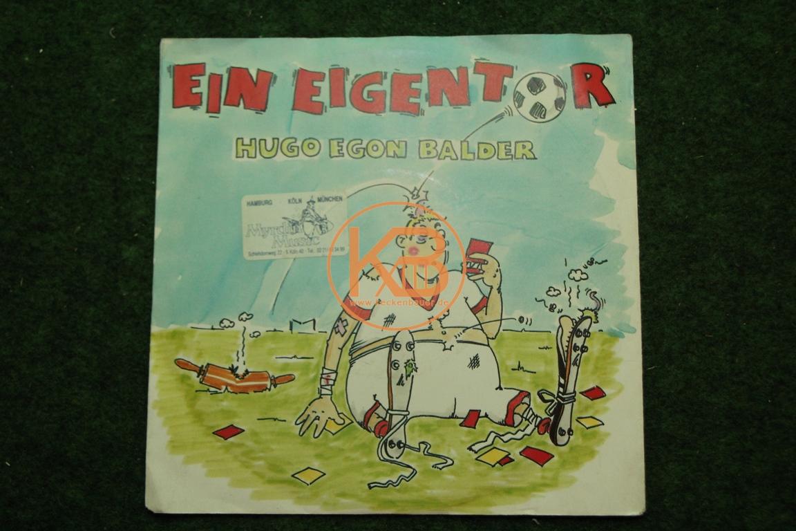 Fußball-Single Ein Eigentor von Hugo Egon Balder White-Records