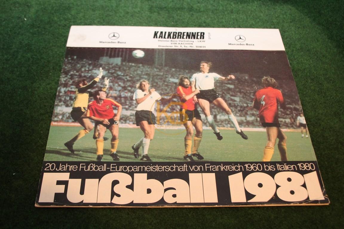 Kalender aus meinem Geburtsjahr mit dem Thema 20 Jahre Fußball Europameisterschaft von 1960 bis Italien 1980.
