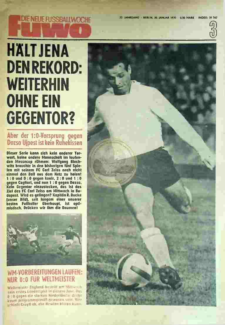 1970 Januar 20.. Die neue Fussballwoche fuwo Nr. 3
