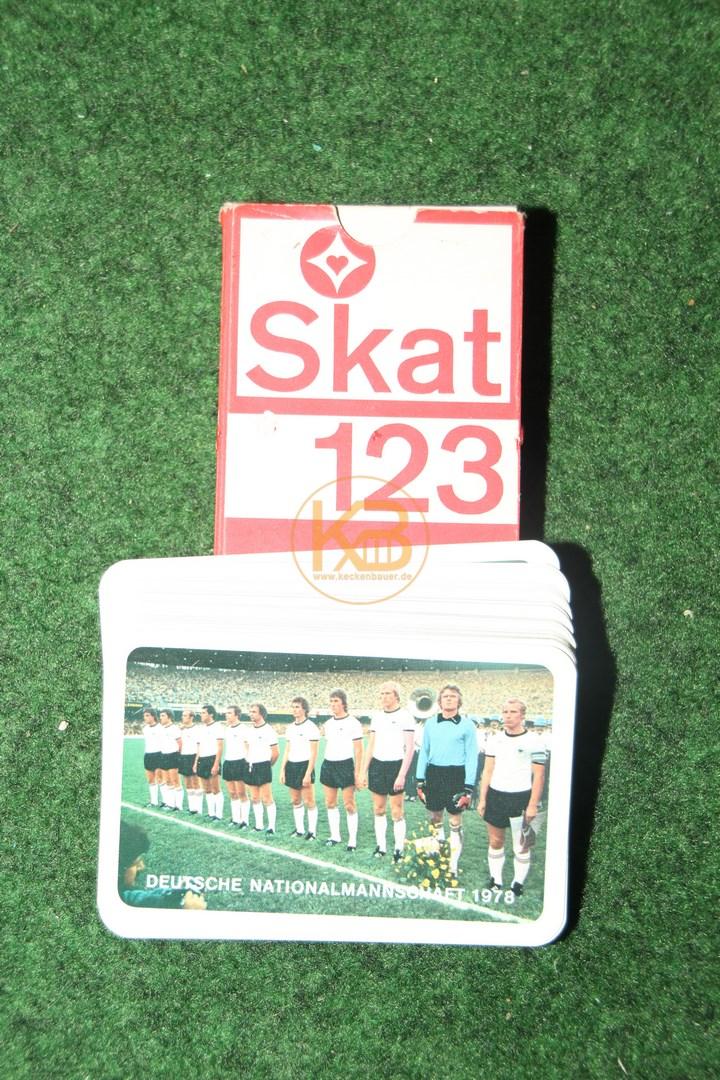 Original SKAT Karten - Fußball Nationalmannschaft 1978