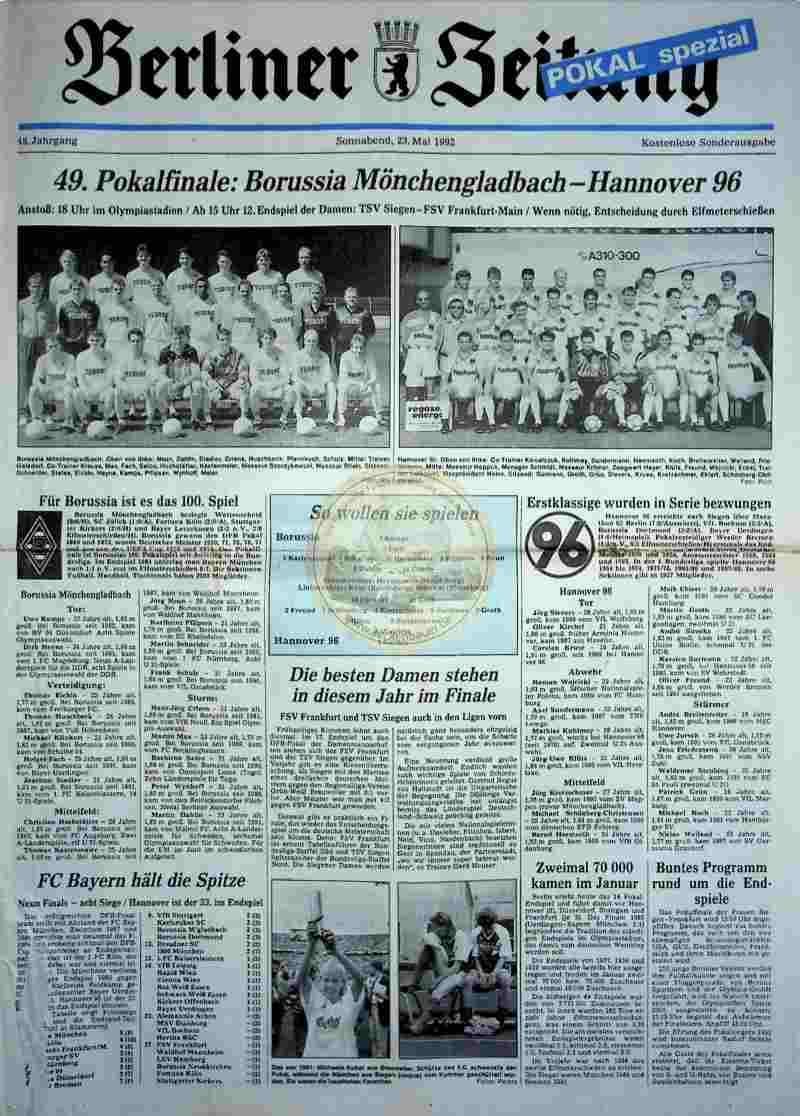 1992 Mai 23. Berliner Zeitung (Auszug)
