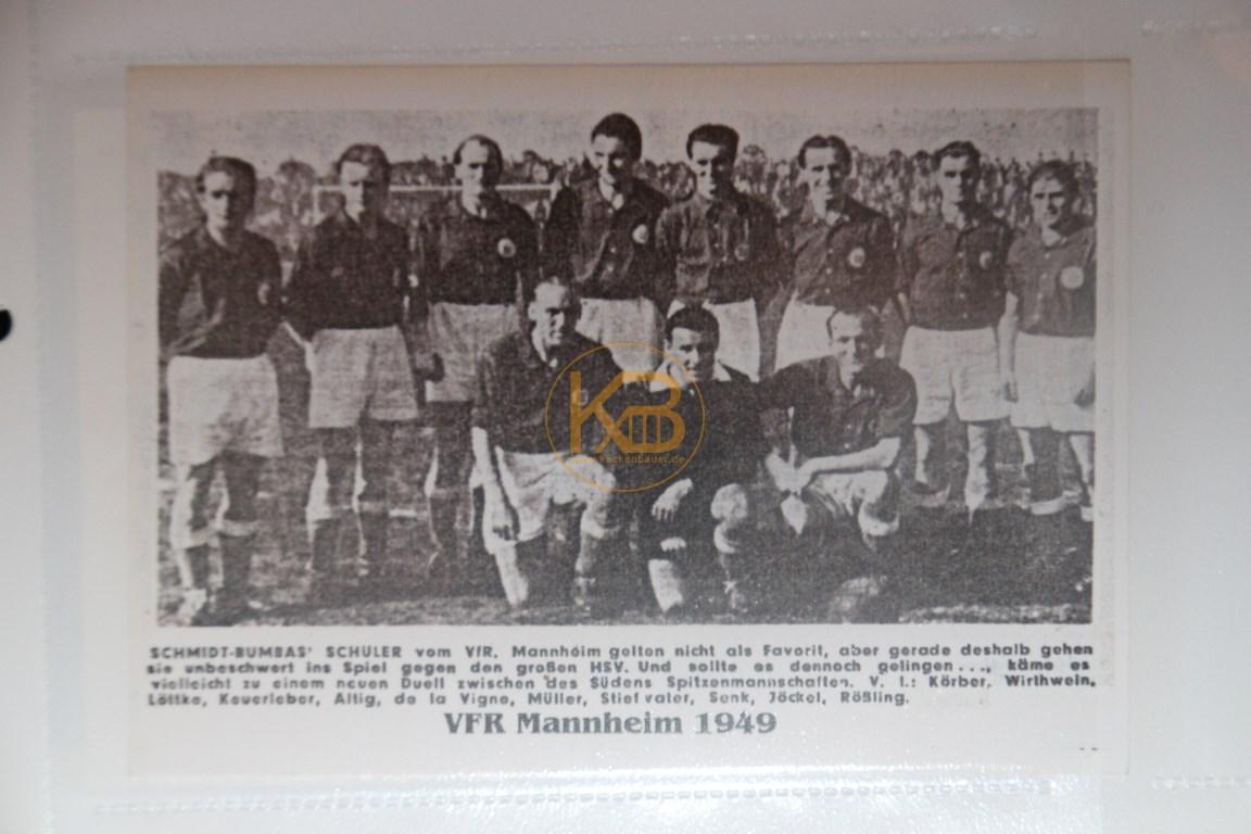 Altes Mannschaftsbild vom VFR Mannheim 1949