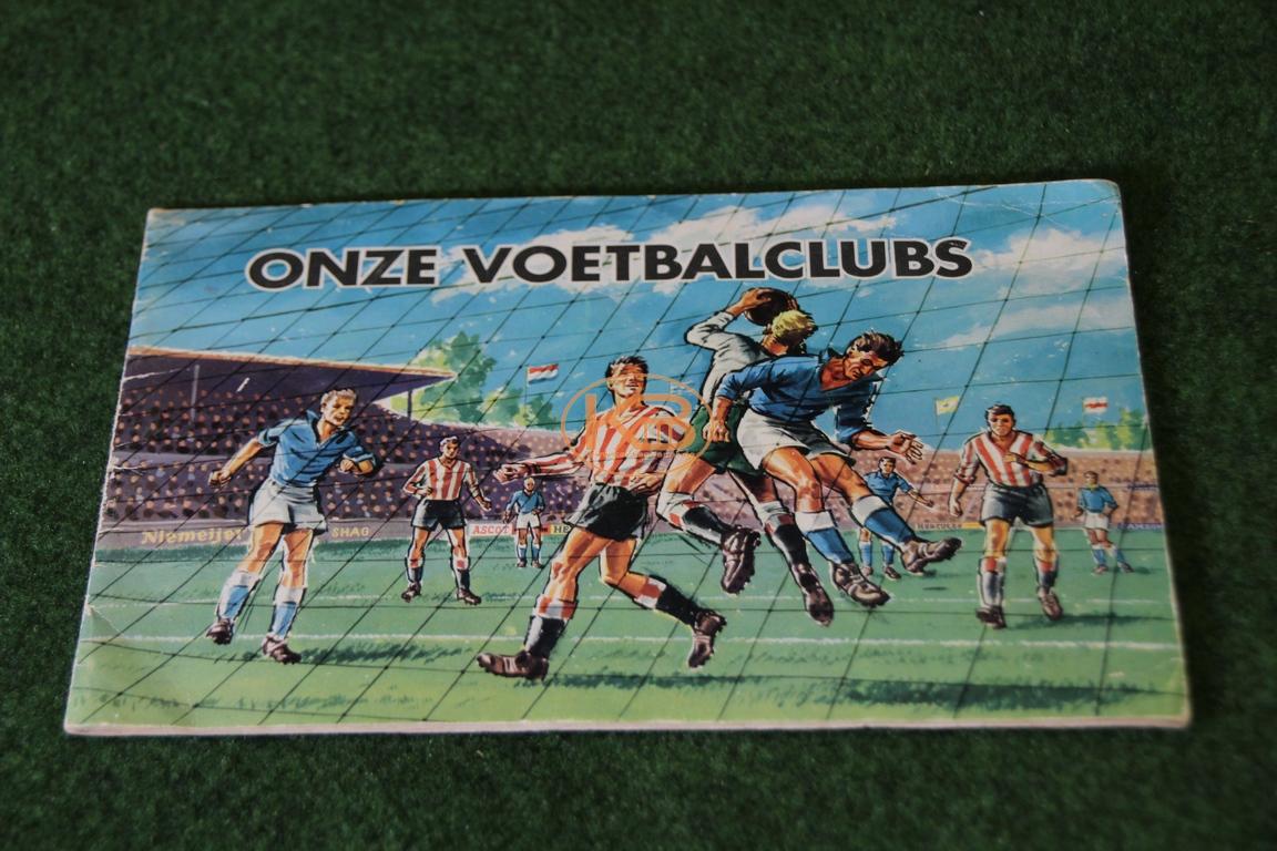 "Sammelalbum ""onze Voetbalclubs"" aus dem Jahr 1959 komplett"