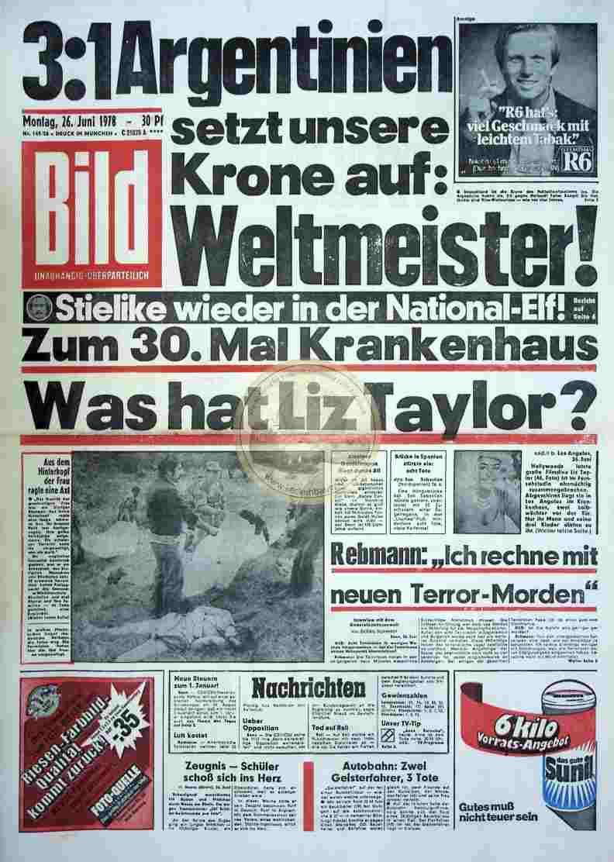 1978 Juni 26. Bildzeitung