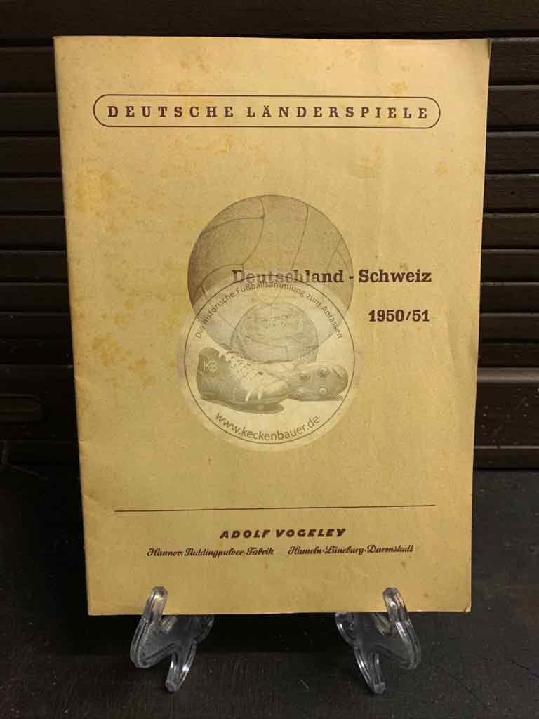 Sammelalbum Deutsche Länderspiele: Deutschland : Schweiz 1950/51 von Adolf Vogeley aus dem Jahr 1951
