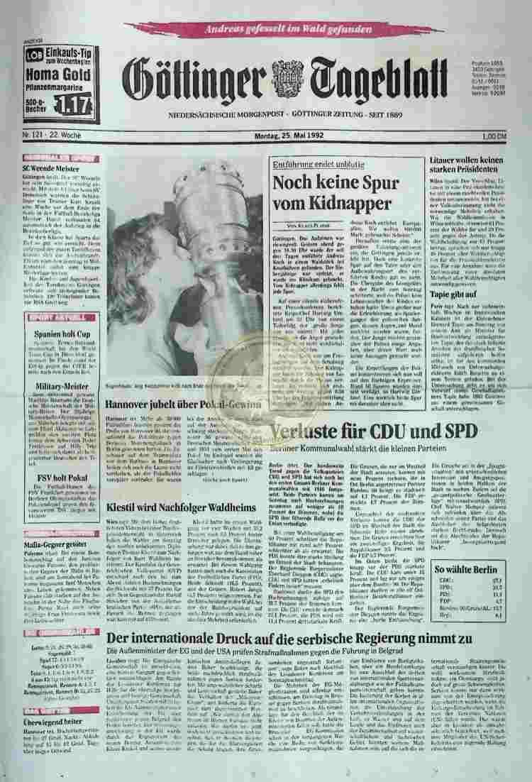 1992 Mai 25. Göttinger Tageblatt