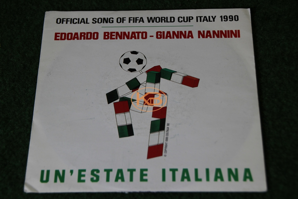 Single LP Official Song of Fifa World Cup Italy 1990 von Edoardo Bennato und Gianna Nannini Unéstate italiana