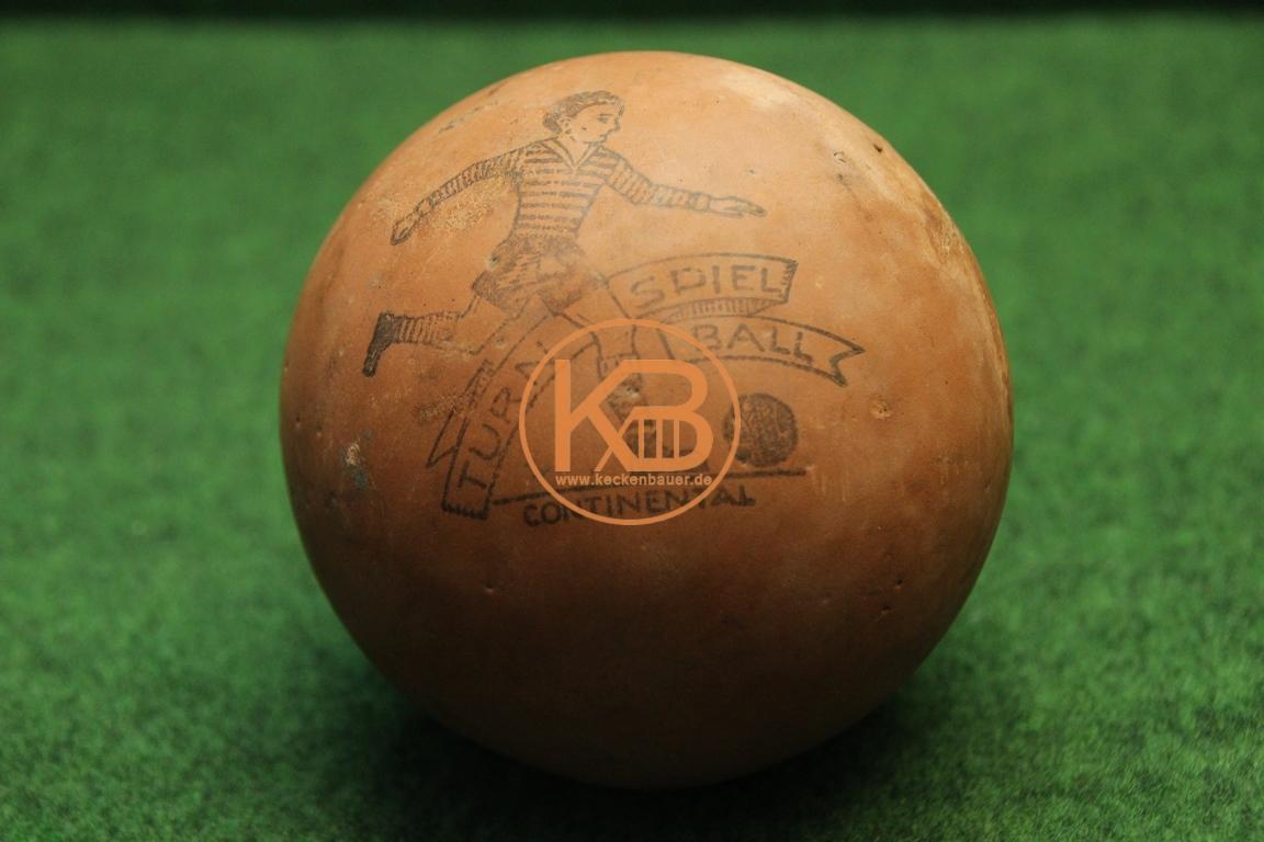 Alter Werbefußball aus Gummi der Firma Continental vermutlich aus den 1940ern