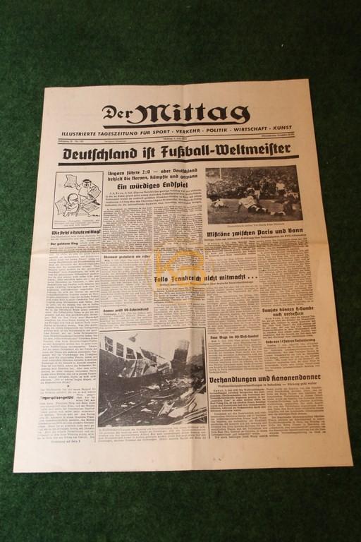 Der Mittag am Tag nach dem Gewinn der Weltmeisterschaft 1954.