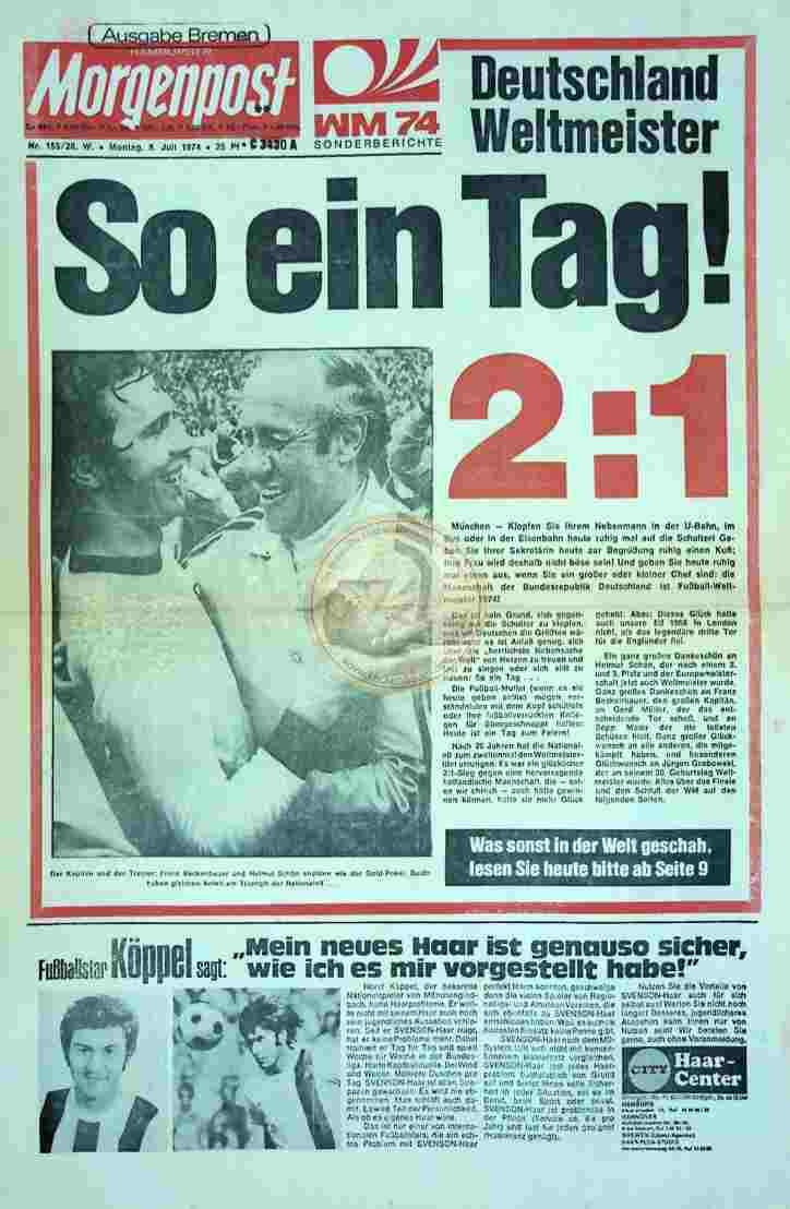 1974 Juli 8. Morgenpost Bremen