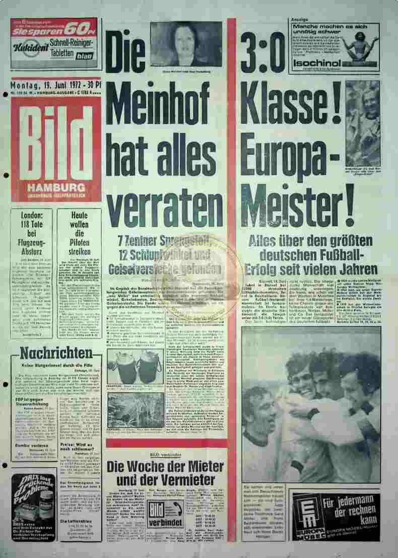 1972 Juni 19. Bildzeitung