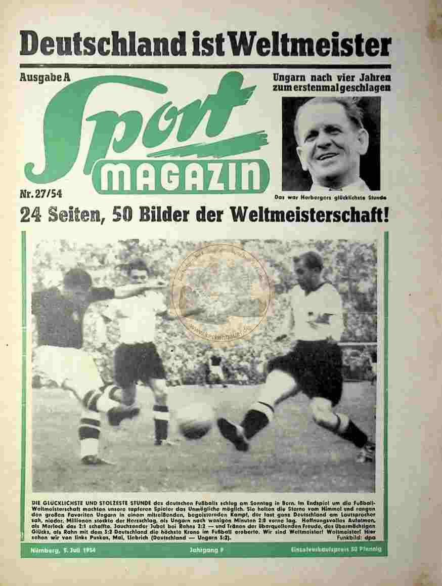 1954 Juli 5. Sport Magazin Nr.27