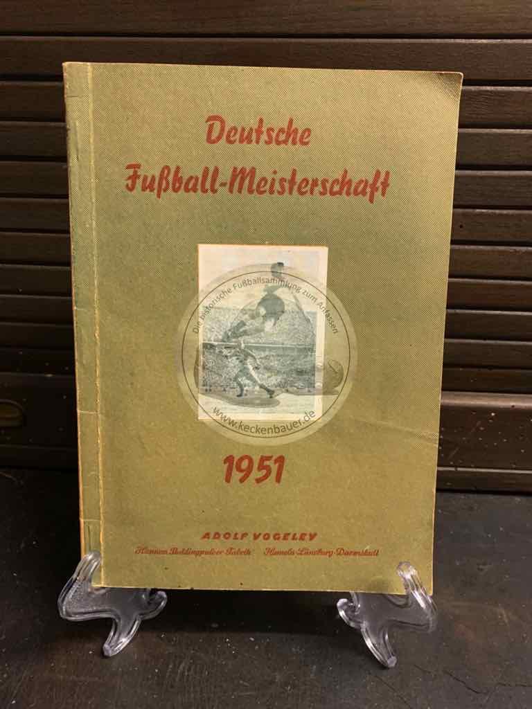 Sammelalbum Deutsche Fußball - Meisterschaft 1951 von Adolf Vogeley
