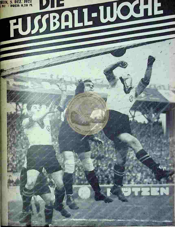 1927 Dezember 5. Fussball-Woche Nr. 97
