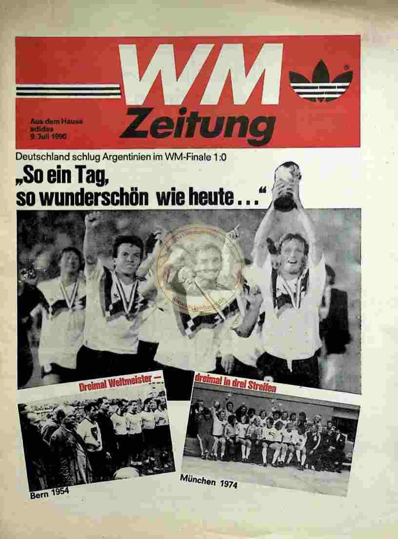 1990 Juli 9. Adidas WM Zeitung