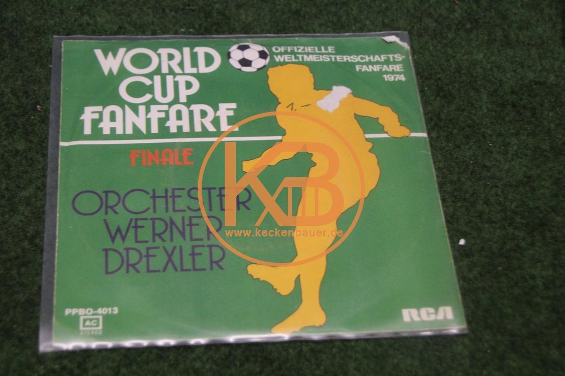 """Platte vom Orchester Werner Drexler mit """"World Cup Fanfare"""" Finale"""