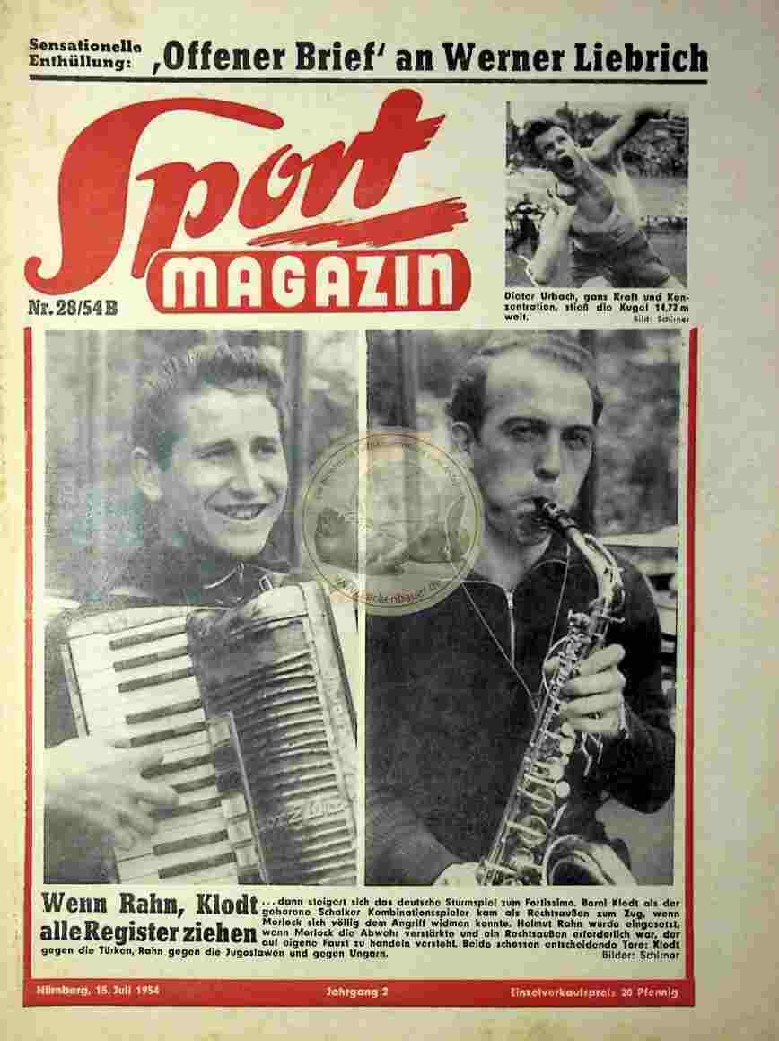 1954 Juli 15. Sport Magazin Nr.28