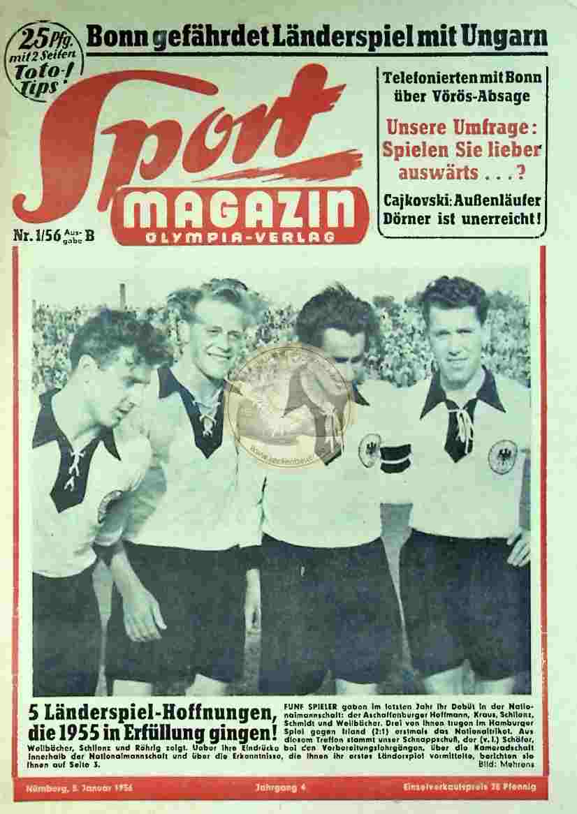 1956 Januar 5. Sport Magazin Nr. 1