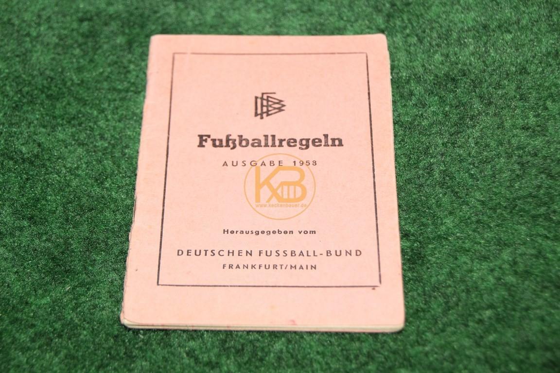 Fußballregeln Ausgabe 1958