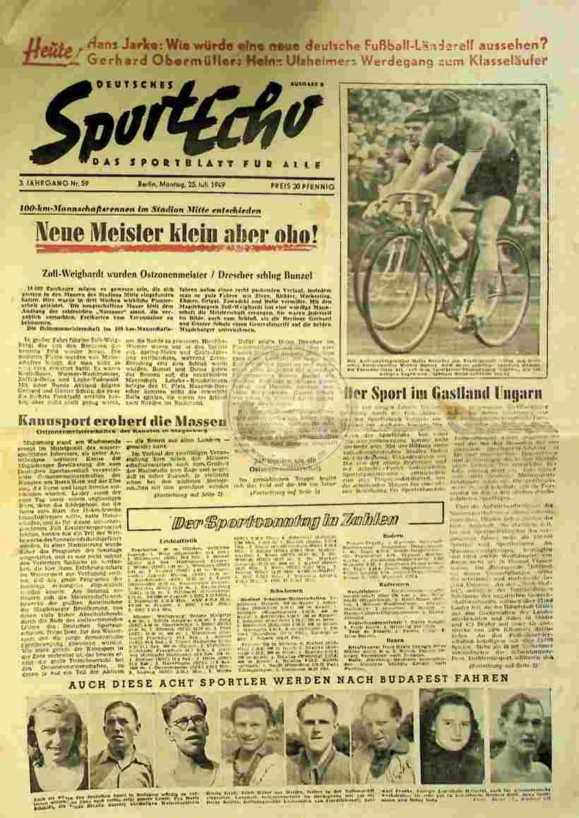1949 Juli 25. Sportecho Nr.59