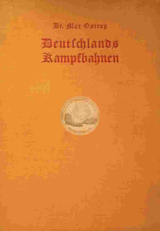 1928 Deutschlands Kampfbahnen Dr. Max Ostrob