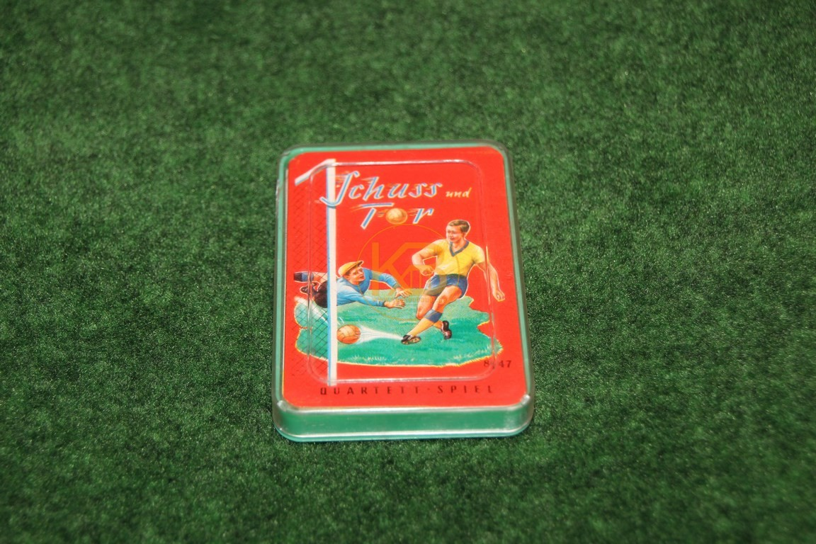 """Altes Kartenspiel """"Schuss und Tor"""" ca. aus den 1960ern."""