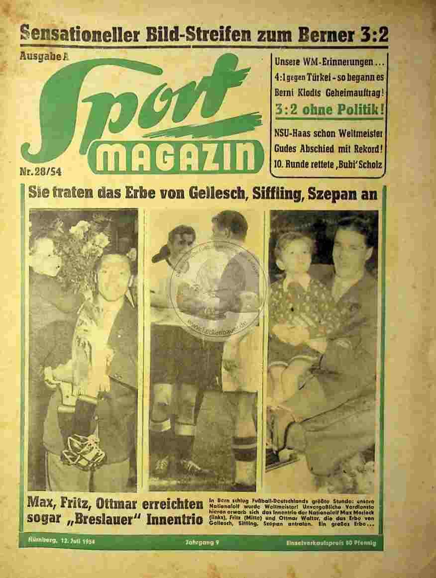 1954 Juli 12. Sport Magazin Nr.28