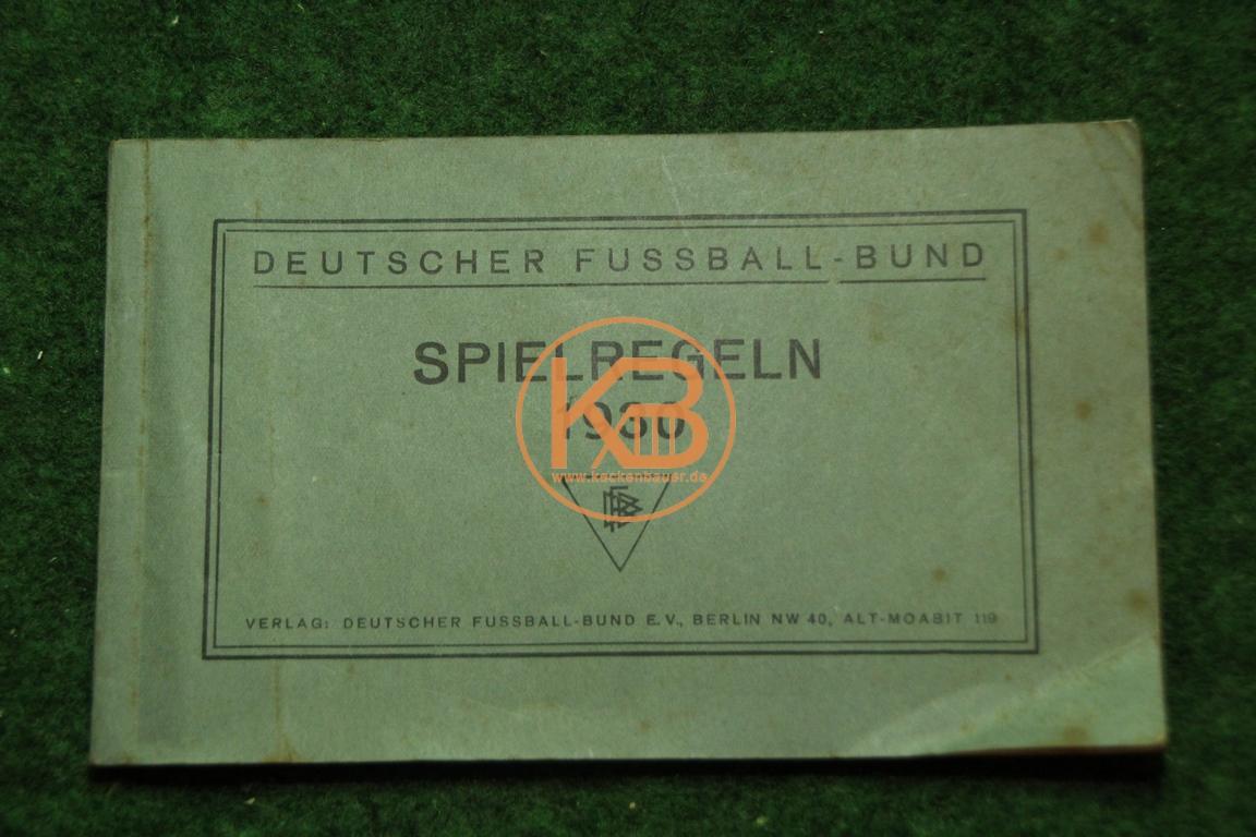 Regelheft Deutscher Fußball Bund 1930.