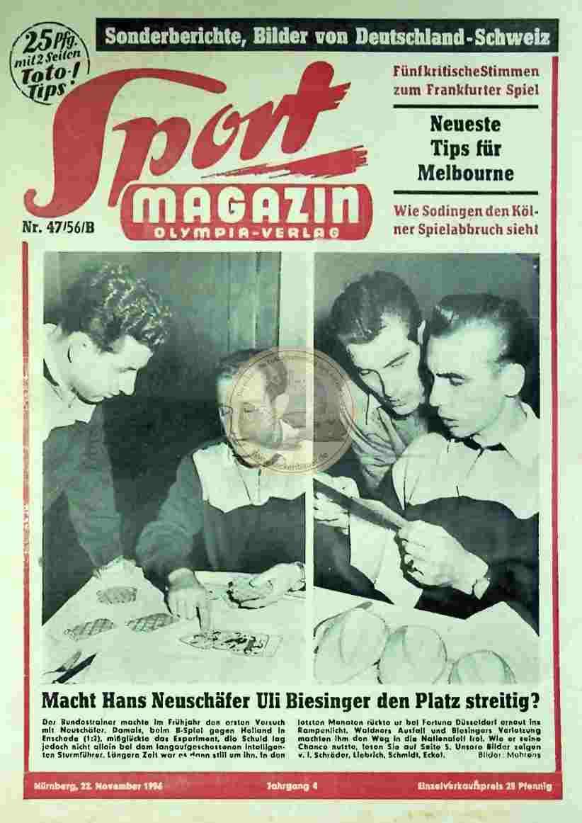 1956 November 22. Sport Magazin Nr. 47