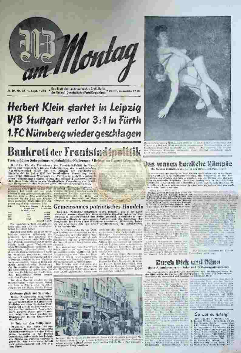 1952 September 1. GB am Montag Nr. 35
