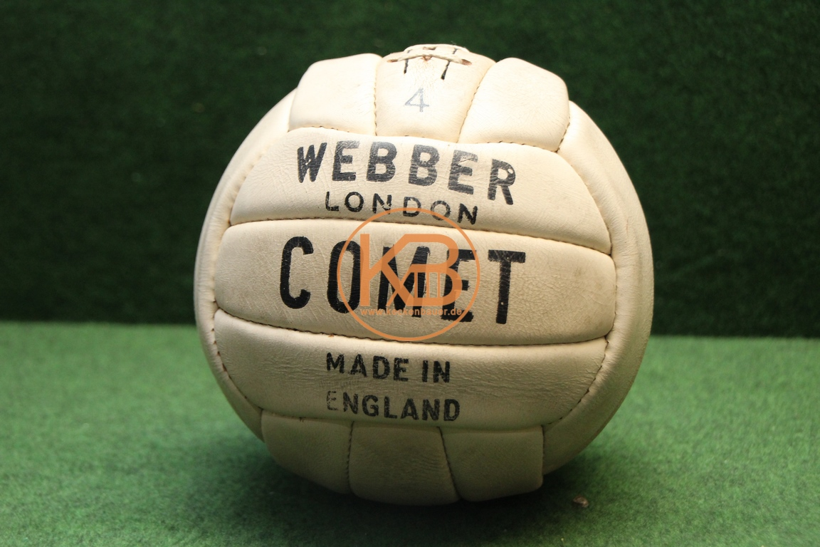 Alter Fußball Comet aus Leder von Webber London vermutlich aus den 1940ern in einem top Zustand