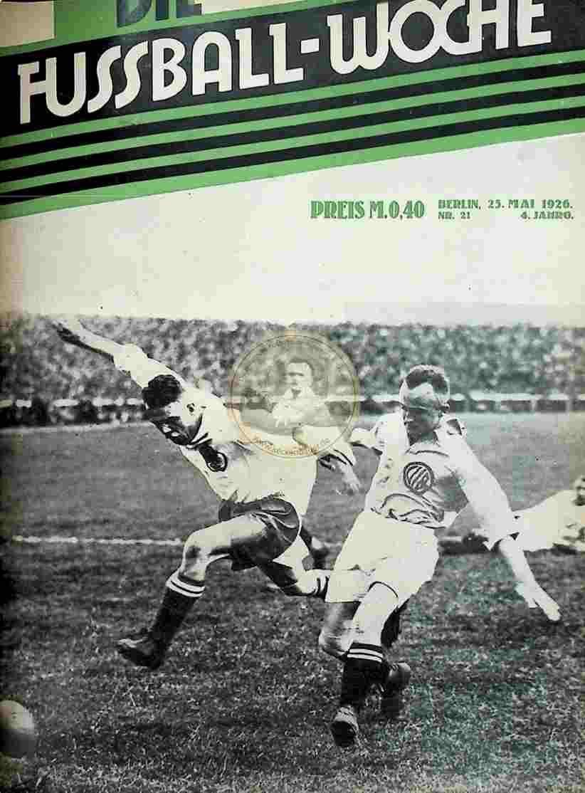 1926 Mai 25. Fussball-Woche Nr. 21