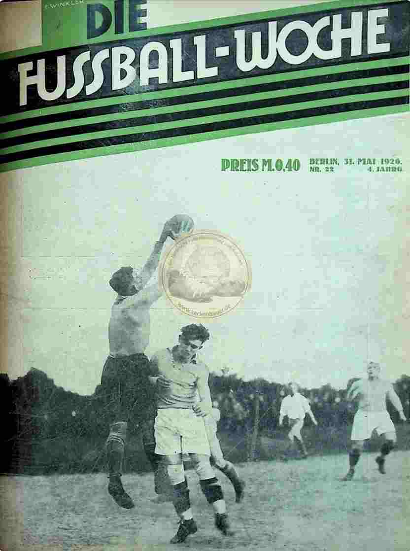 1926 Mai 31. Fussball-Woche Nr. 22