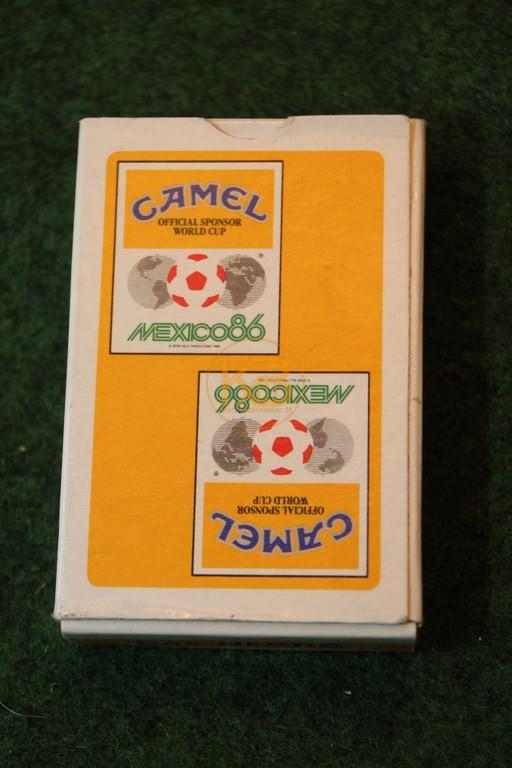 Pokerblatt zur WM 1986 in Mexiko