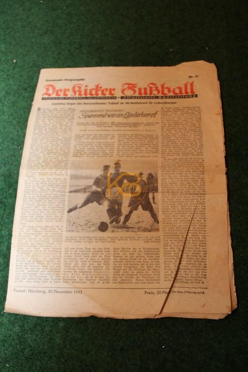 Gemeinsame Kriegsausgabe vom Kicker und Fußball vom 30.11.1943.