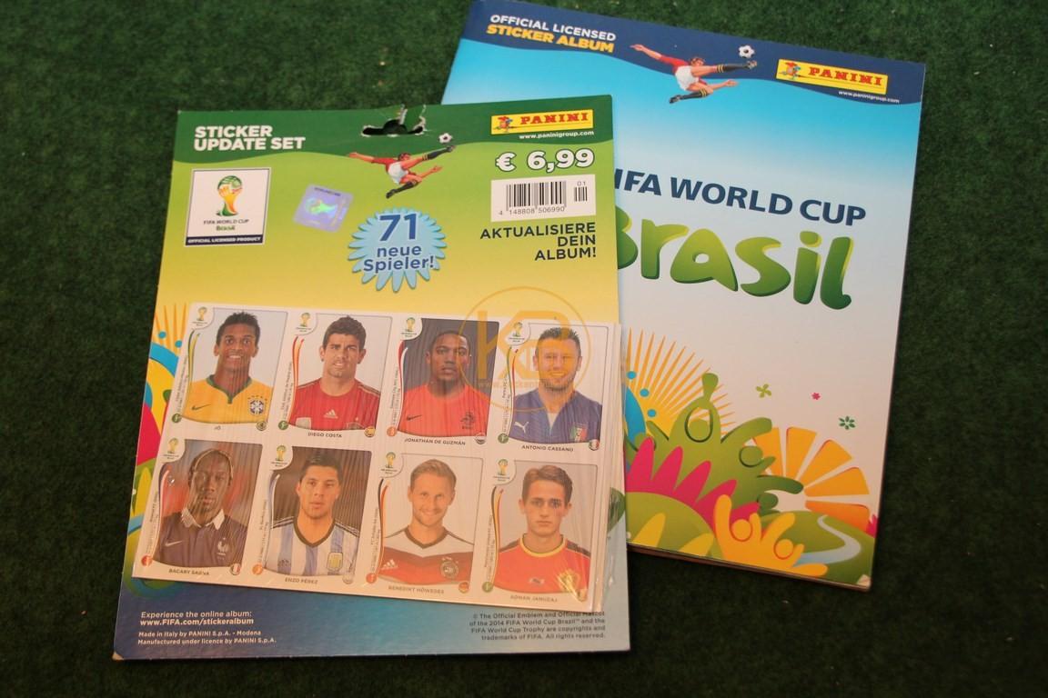 Panini Album zur WM 2014 vollständig inkl. dem Update Set.