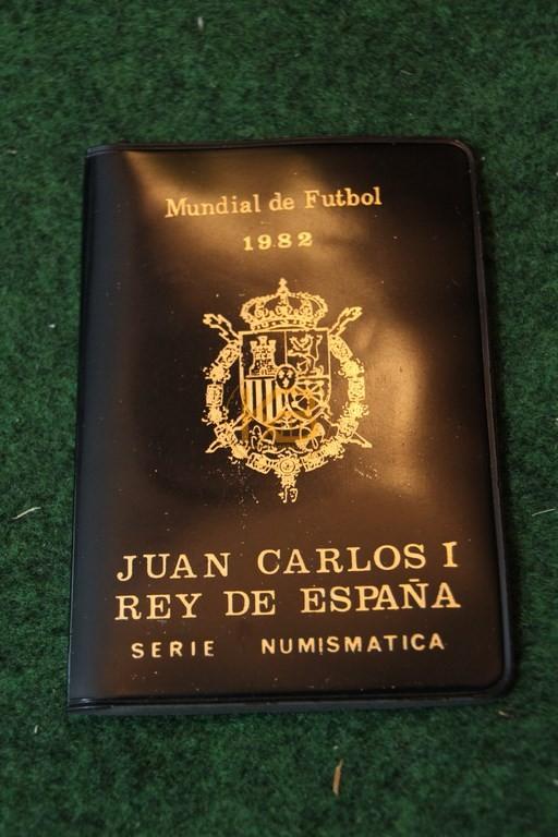 Sammelmünzen zur Weltmeisterschaft 1982 in Spanien.
