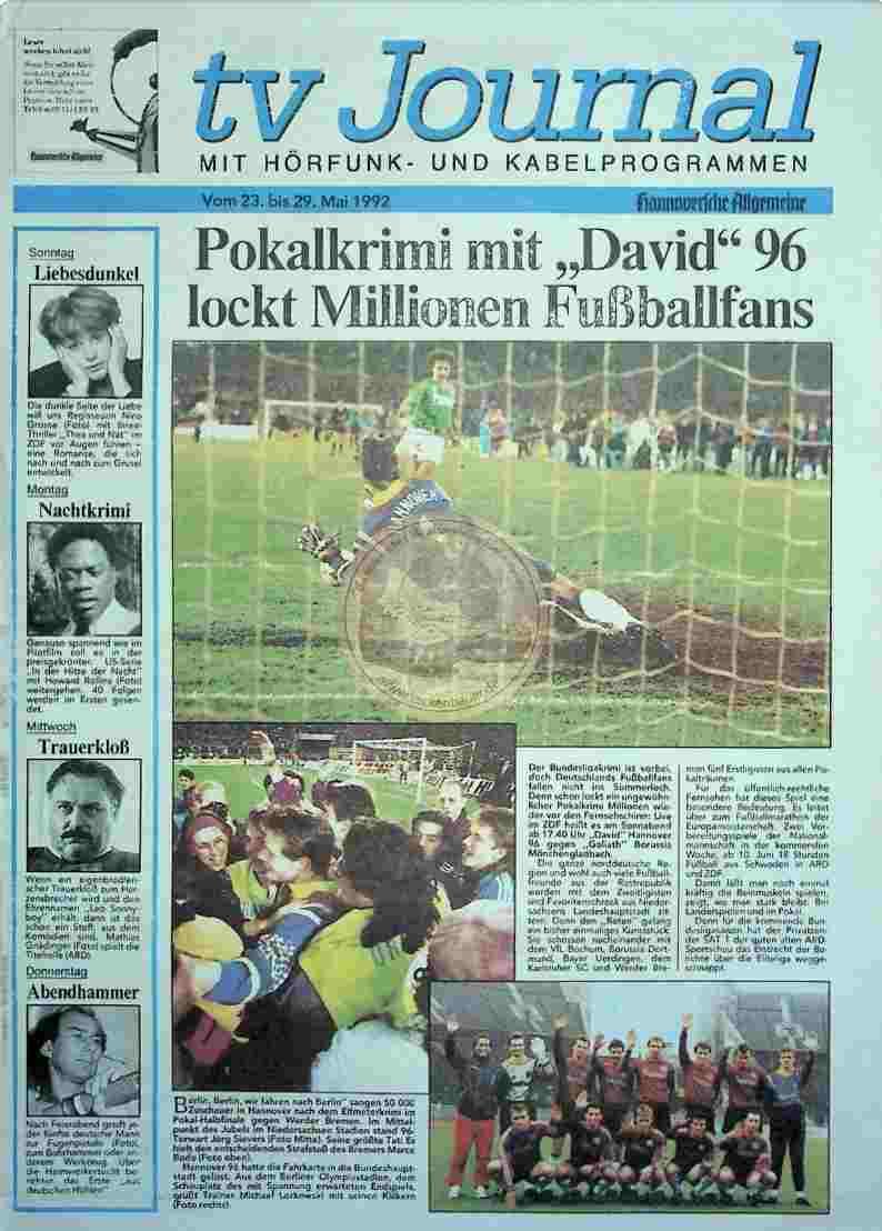 1992 Mai 23. TV Journal HAZ(Auszug)