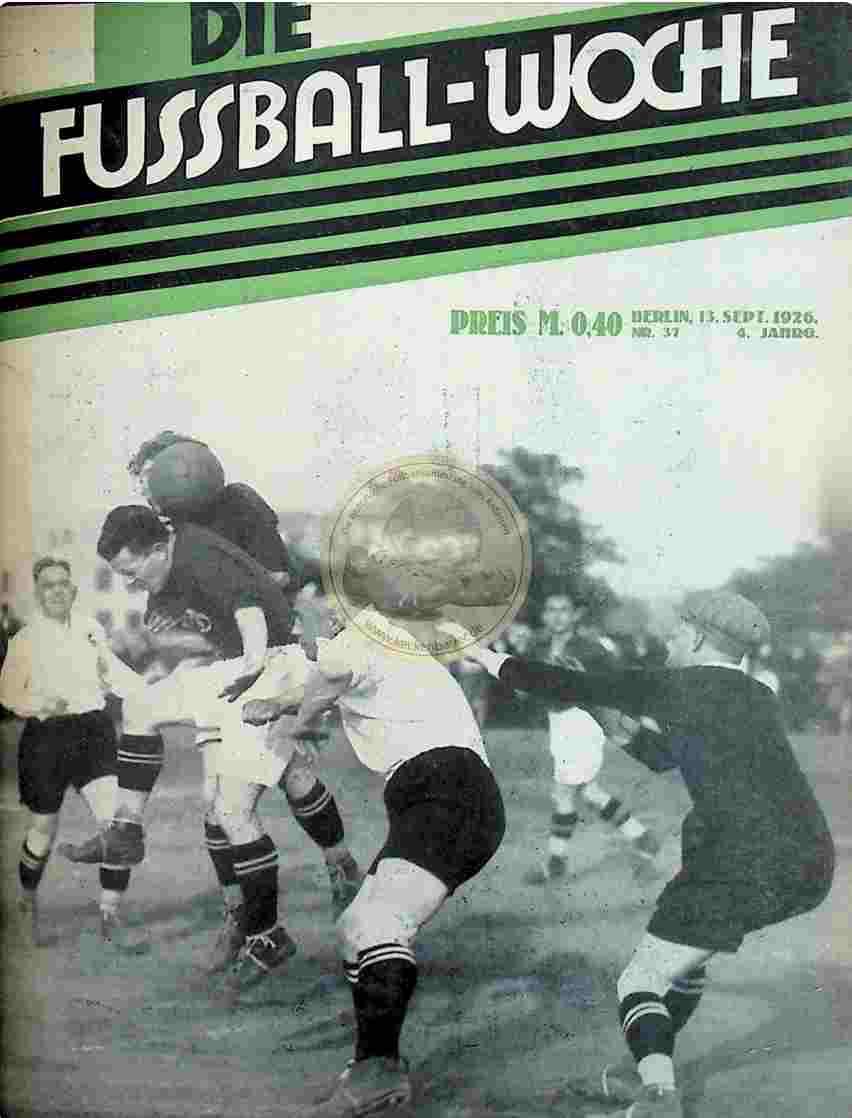 1926 September 13. Fussball-Woche Nr. 37