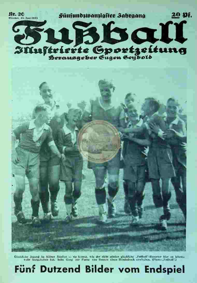 1935 Juni 25. Fußball Nr. 26