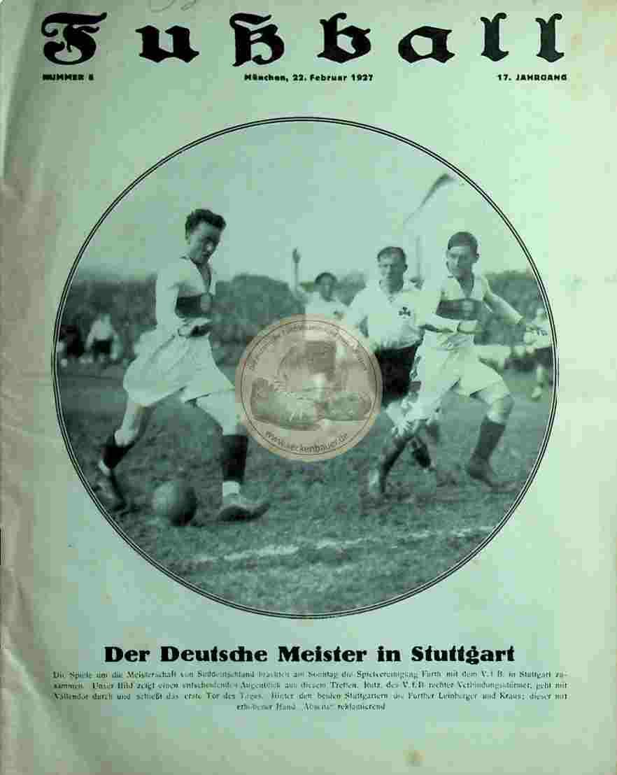 1927 Februar 22. Fussball