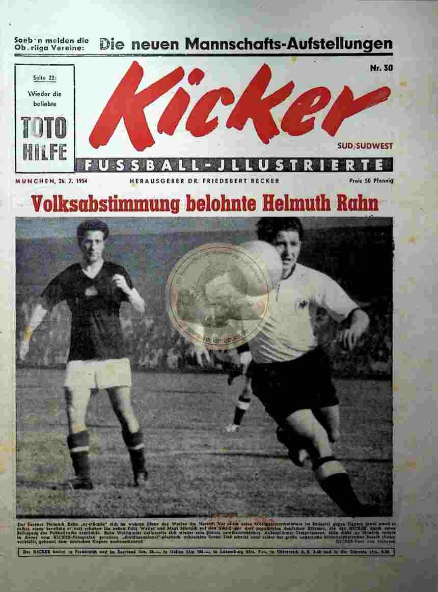 1954 Juli 26. Kicker Nr.30 Süd