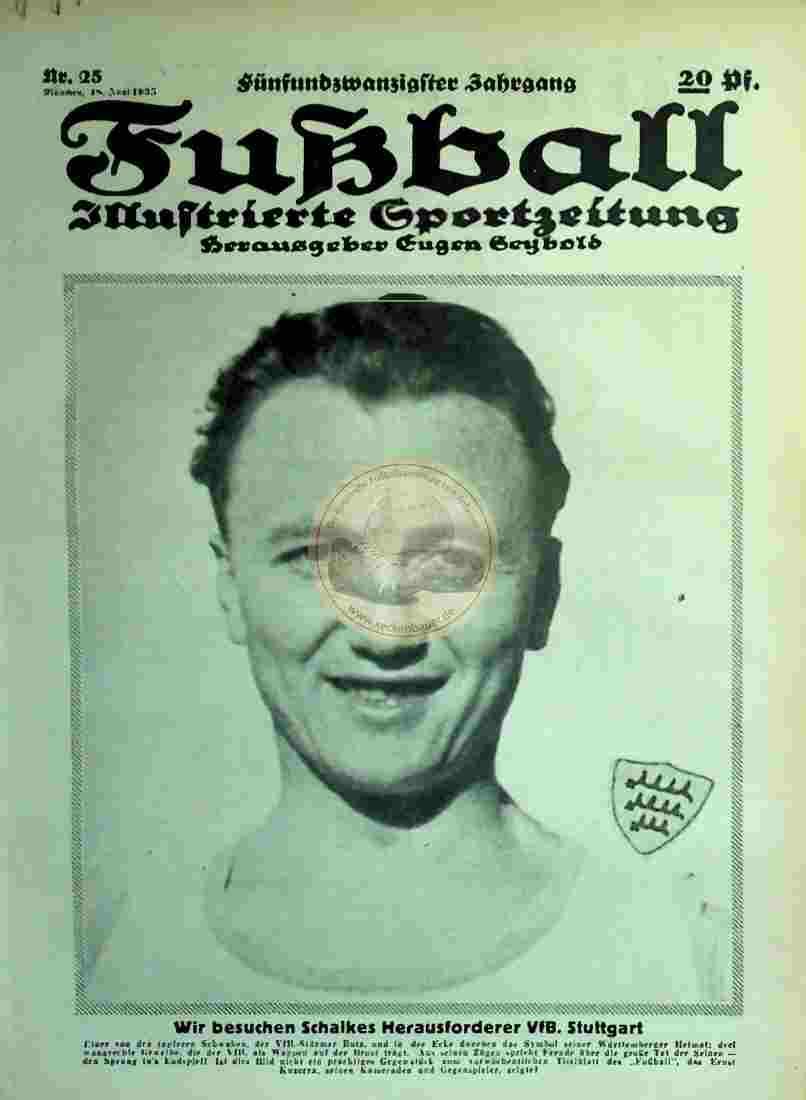 1935 Juni 18. Fussball