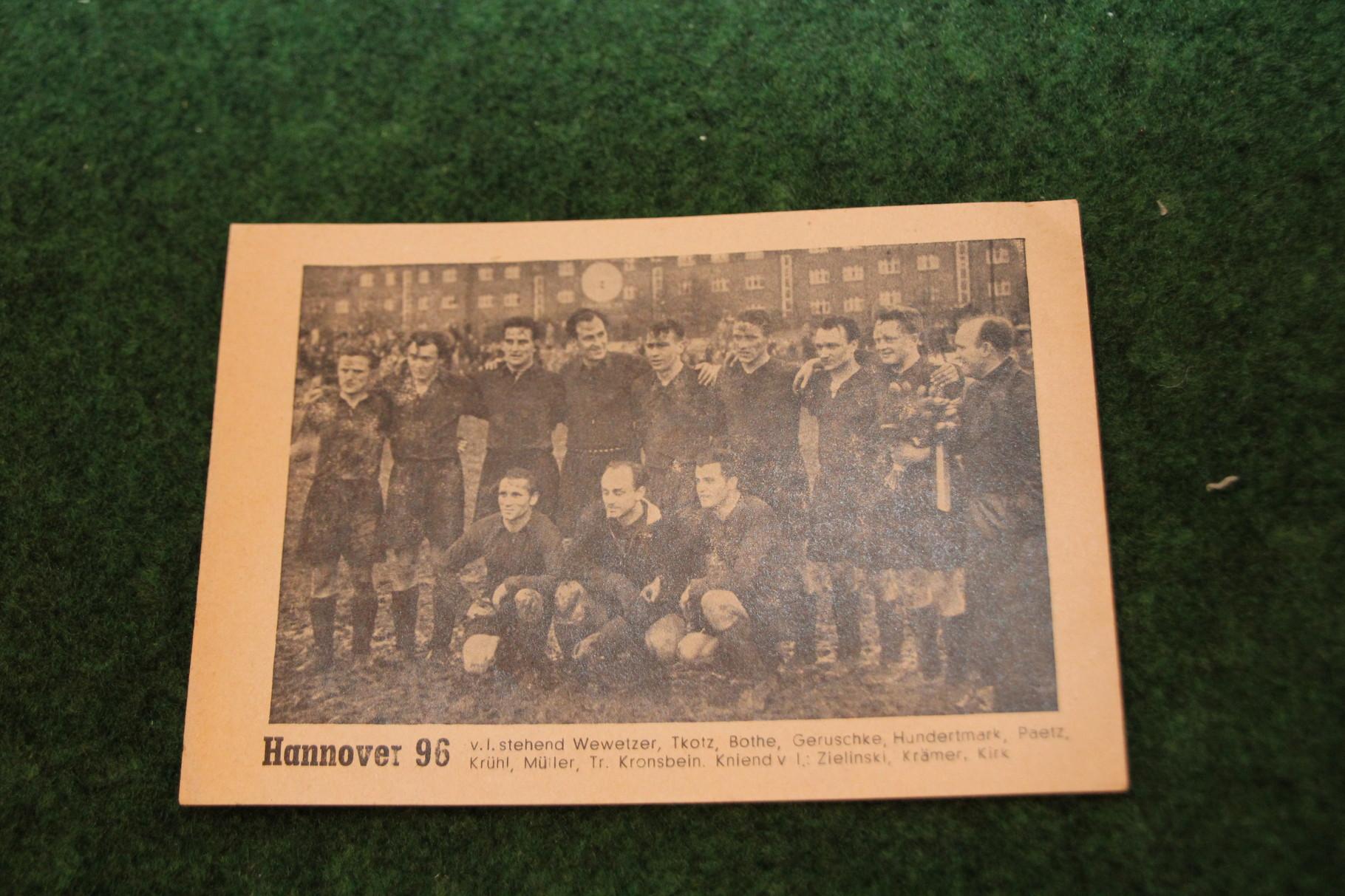 Bild vom Deutschen Meister 1954 Hannover 96.