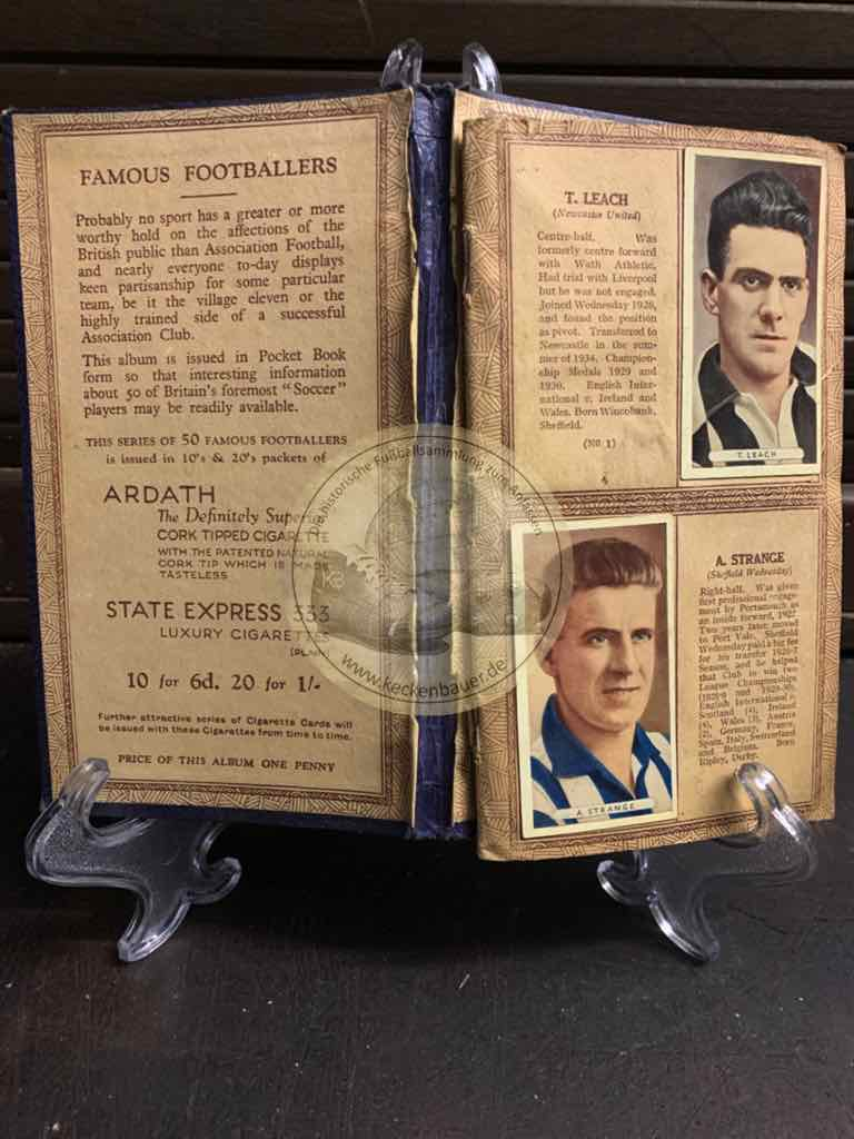 Sammelalbum Famous Footballers aus England aus den 1930igern.