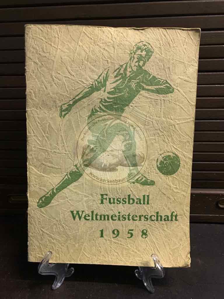 Sammelalbum der Fußball WM 1958 in Schweden natürlich