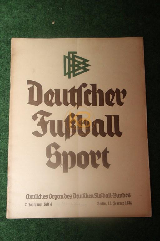 Deutscher Fußballsport Heft 4 vom 15.02.1934